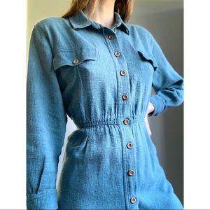 Vintage L.L. Bean button down shirt dress
